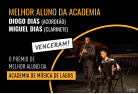 Diogo Dias e Miguel Dias venceram o prémio Melhor Aluno da Academia. Muitos parabéns!